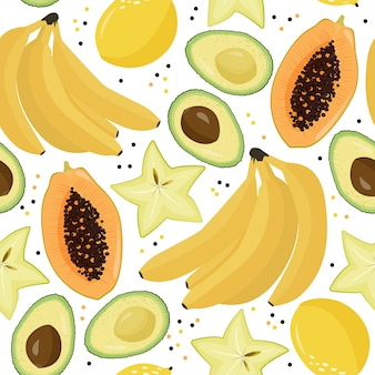 Fond de fruits.