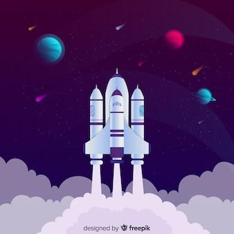 Fond de fusée décoller