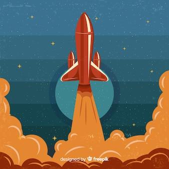 Fond de fusée la nuit