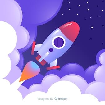 Fond de fusée de voyage