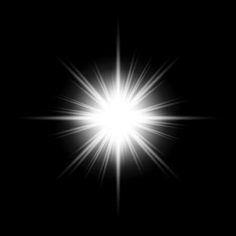 Fond de fusées éclairantes de lentilles blanches