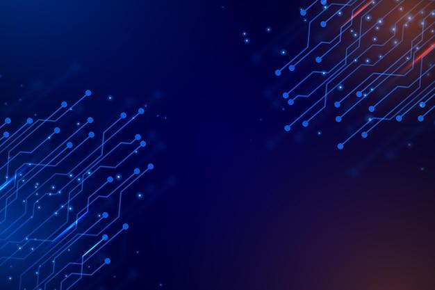Fond futuriste dégradé avec concept de connexion