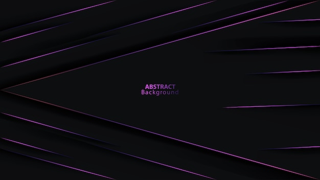 Fond futuriste de direction de flèche métallique violet