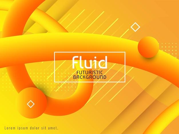 Fond futuriste fluide moderne et élégant