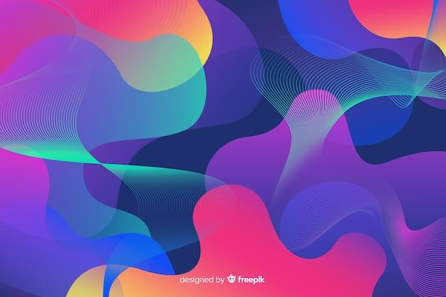 Fond futuriste avec des formes colorées