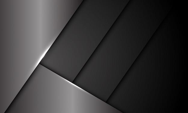 Fond futuriste d'obturateur métallique gris foncé.