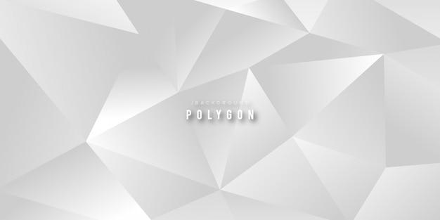 Fond futuriste de polygone élégant blanc