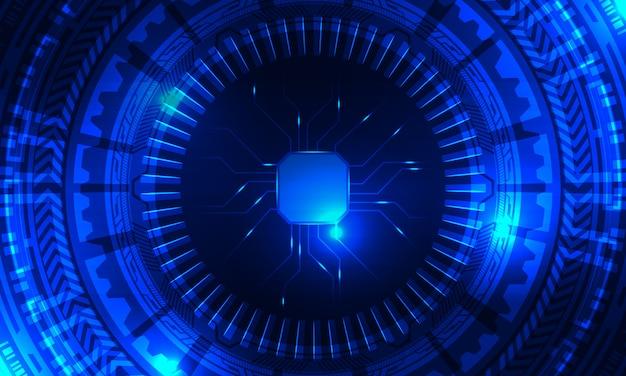 Fond futuriste radial