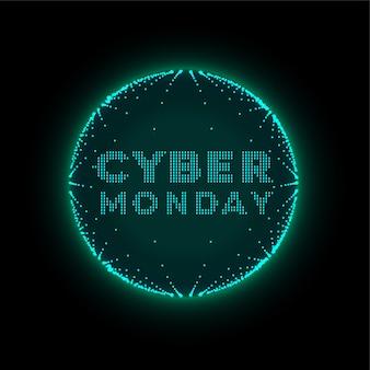 Fond futuriste de style de technologie cyber lundi