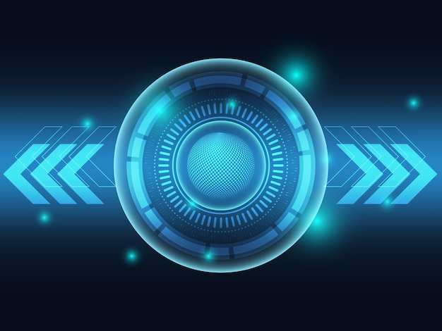Fond futuriste de technologie bleue