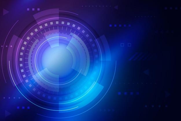Fond futuriste de technologie dégradé