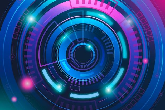 Fond futuriste de technologie dégradée