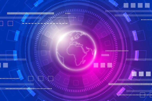 Fond futuriste de technologie