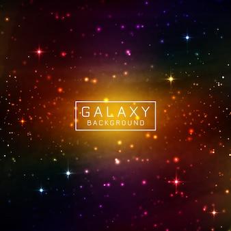 Fond de galaxie d'abstarct