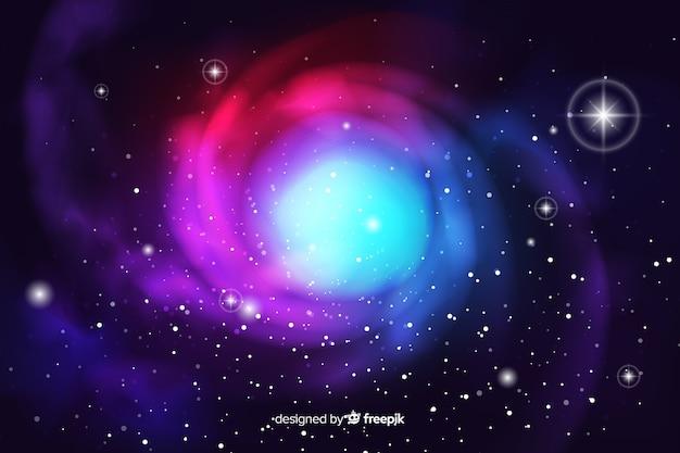 Fond de galaxie abstraite sombre réaliste