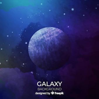 Fond de galaxie aquarelle coloré