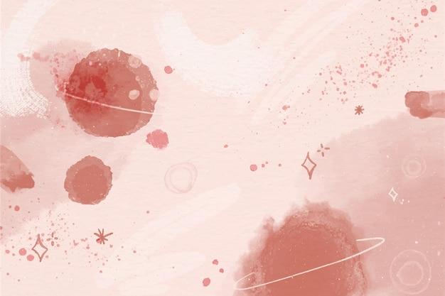 Fond de galaxie aquarelle monochrome