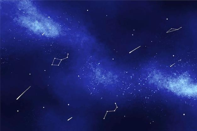 Fond de galaxie aquarelle peinte à la main