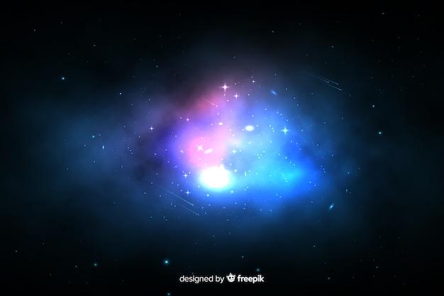 Fond de galaxie colorée nébuleuse