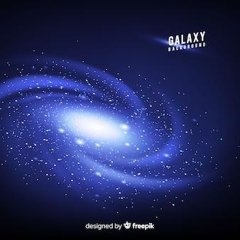 Fond de galaxie avec un design réaliste