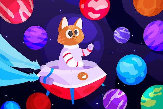 Fond de galaxie de dessin animé