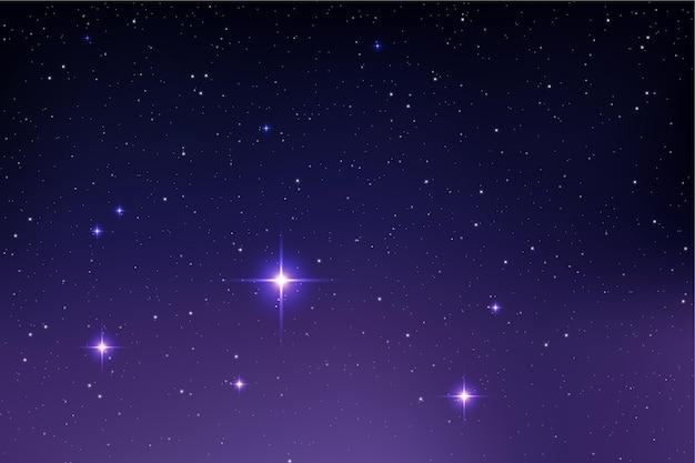 Fond de galaxie étoiles réalistes