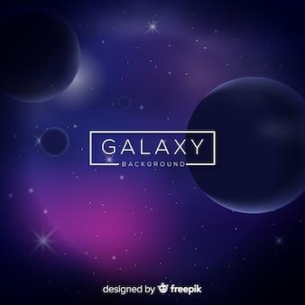 Fond de galaxie moderne avec un design réaliste
