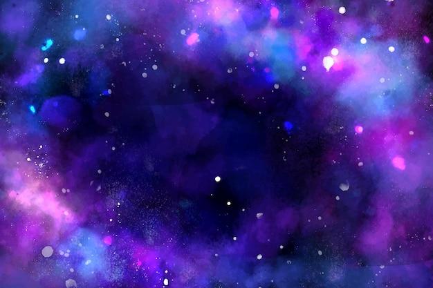 Fond de galaxie peint à la main