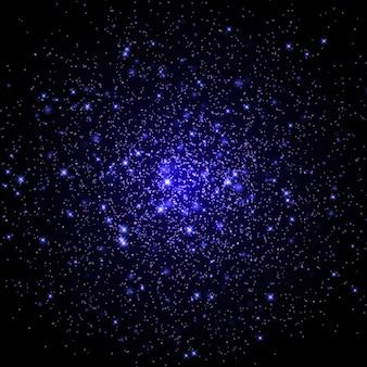 Fond de galaxie spatiale avec des étoiles