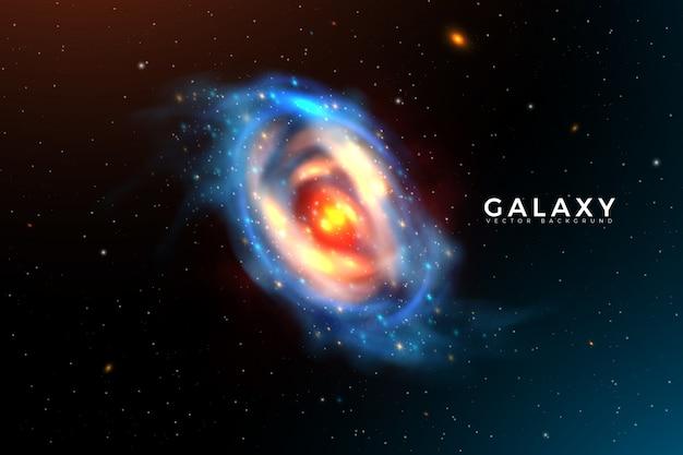 Fond de la galaxie spatiale
