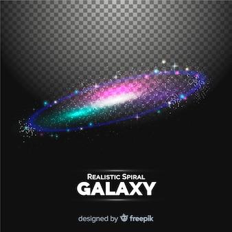 Fond de galaxie spirale