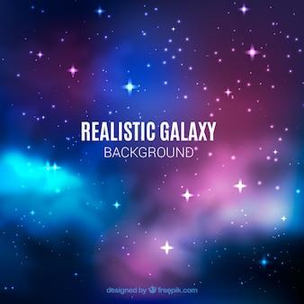 Fond galaxy avec des étoiles