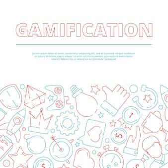 Fond de gamification. règles commerciales pour la réussite du jeu des travailleurs motivation au travail