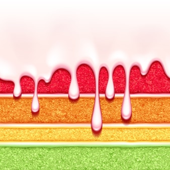 Fond de gâteau éponge arc-en-ciel. texture transparente colorée.