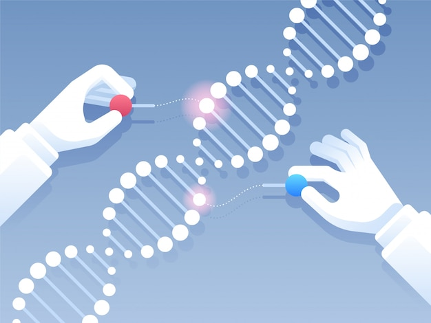 Fond de génie génétique