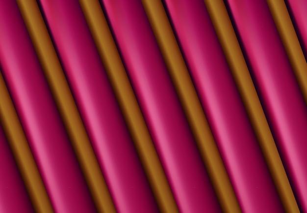 Fond géomatrique abstrait surface en couches d'or rose