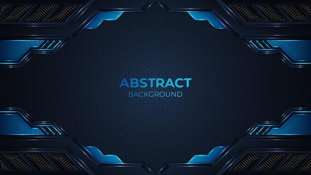 Fond géomatrique bleu abstrait moderne avec une forme élégante et décoration d'élément de points de paillettes scintillantes