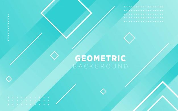 Fond de géométrie verte moderne