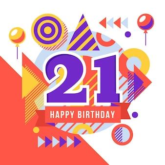 Fond géométrique 21 anniversaire