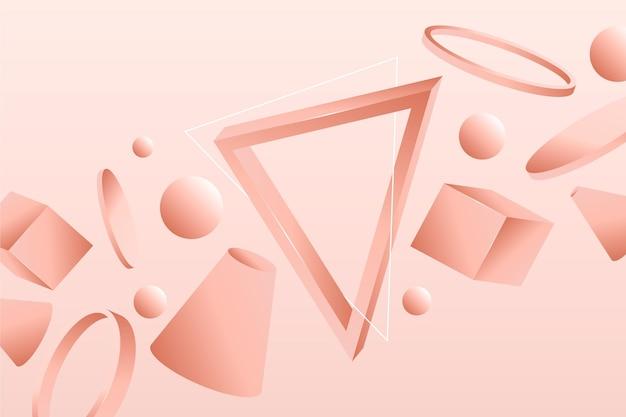 Fond géométrique 3d dégradé