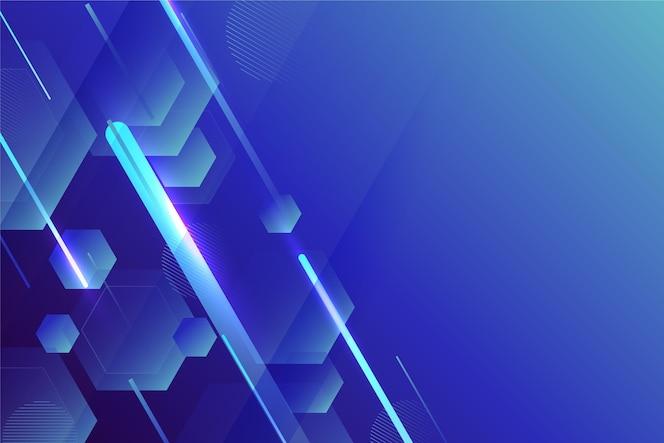 Fond géométrique abstrait bleu dégradé