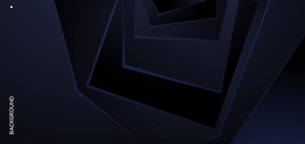 Fond géométrique abstrait bleu de vecteur