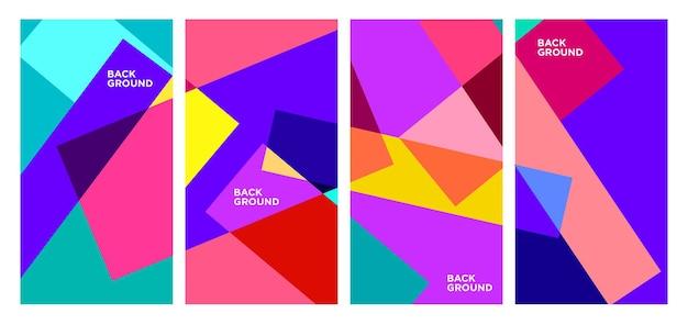Fond géométrique abstrait coloré et liquide de vecteur