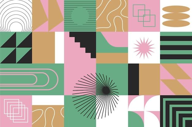 Fond géométrique abstrait coloré