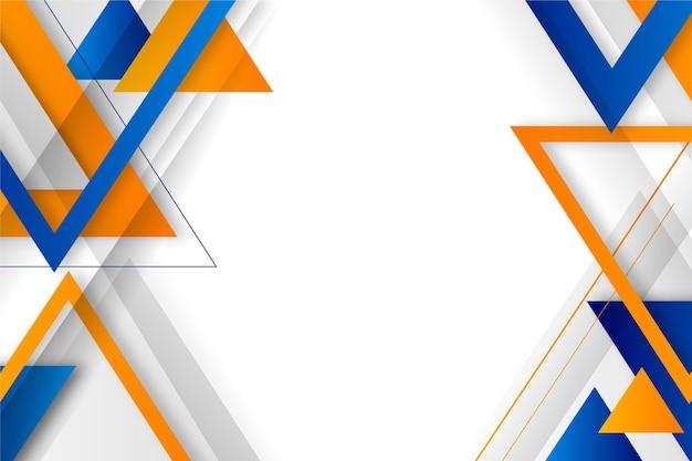 Fond géométrique abstrait dégradé avec triangles