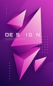 Fond géométrique abstrait avec des formes triangulaires, couverture minimale colorée