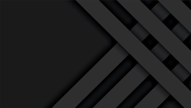 Fond géométrique abstrait lignes noires