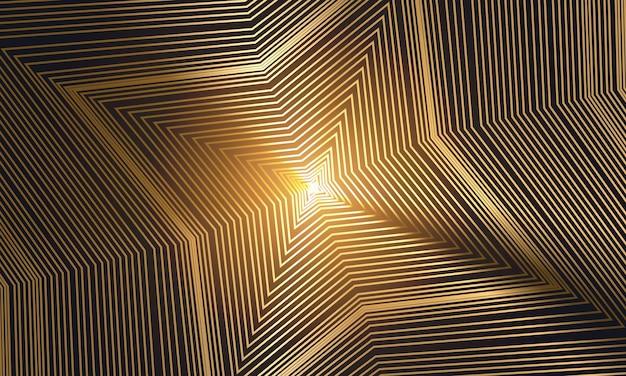 Fond géométrique abstrait de luxe doré