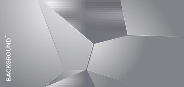 Fond géométrique abstrait en métal argenté de vecteur