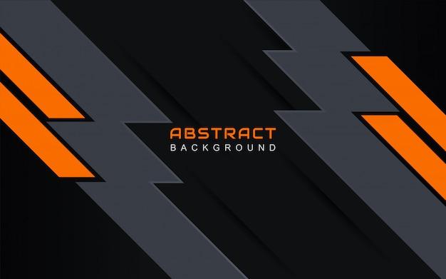Fond géométrique abstrait minimal avec ligne de bande orange